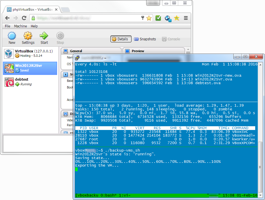 Backup script for VirtualBox vm's in Debian | Vorkbaard uit