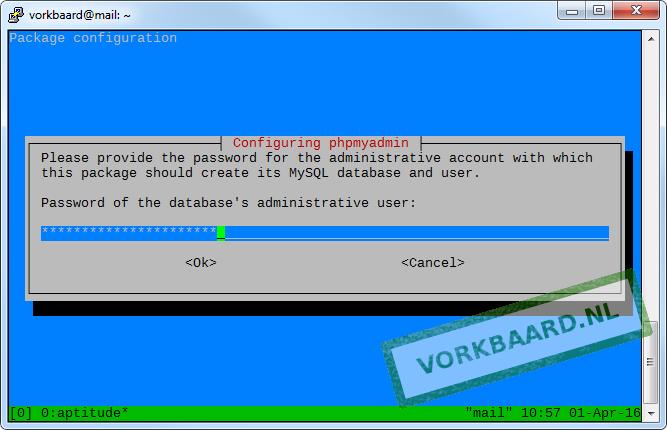 Enter MySQL's root password