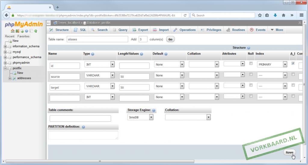 Create aliases table