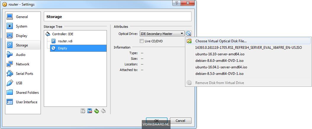 Set up a testlab in VirtualBox with a virtual LAN