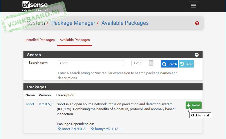 Installing Snort for IDS/IPS on PfSense 2 4   Vorkbaard uit
