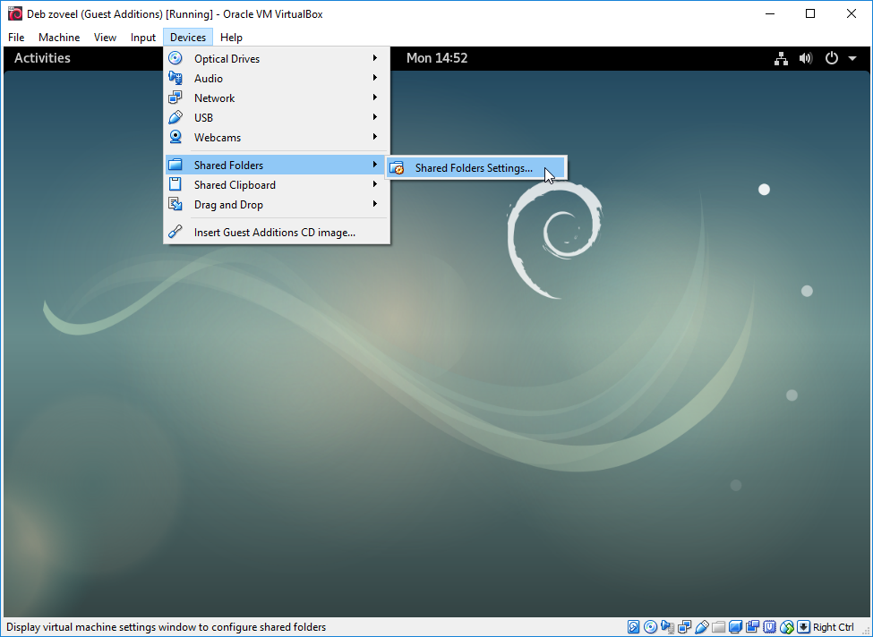 Getting Shared Folders working properly in Debian 9 in VirtualBox